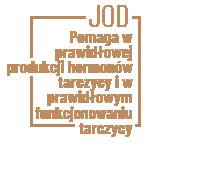 Pomaga w prawidłowej produkcji hormonów tarczycy i w prawidłowym funkcjonowaniu tarczycy – jod